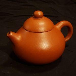 Vintage Terra Cotta Pottery Teapot